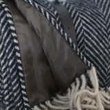 Polo  Wool Picnic Rug  in Vintage Brown Herringbone