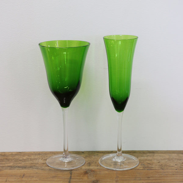 Emerald Wine Glass