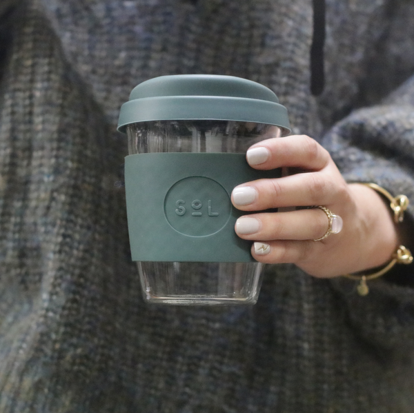 Sol Reusable Coffee Cup Deep Sea Green
