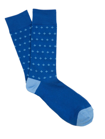 Blue Cross Socks for Men