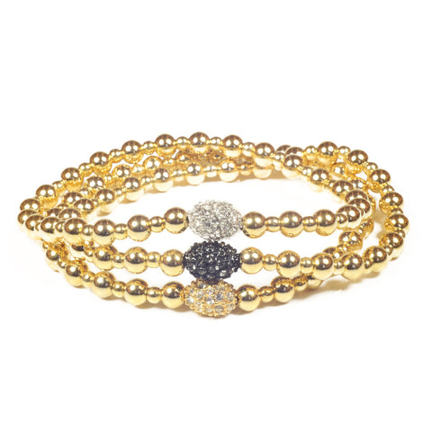 B1406 stretch ball bracelet