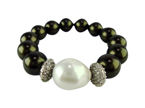 B2479 black pearls bracelet