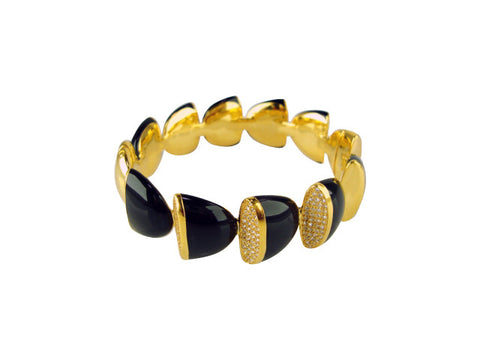 b2657 bracelet black resin bangle