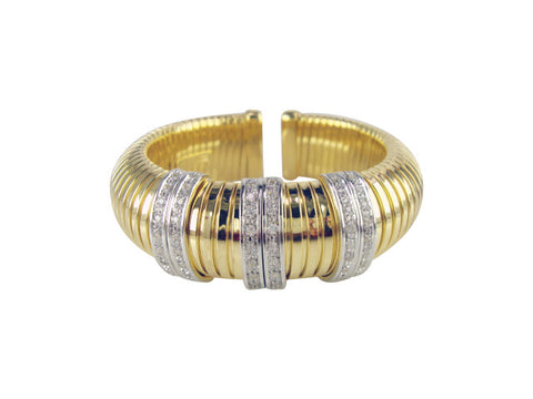b2664-2 bracelet flex cuff and pave'