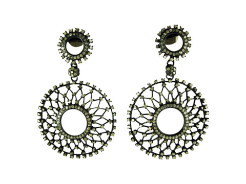 d1009 earring diamonds