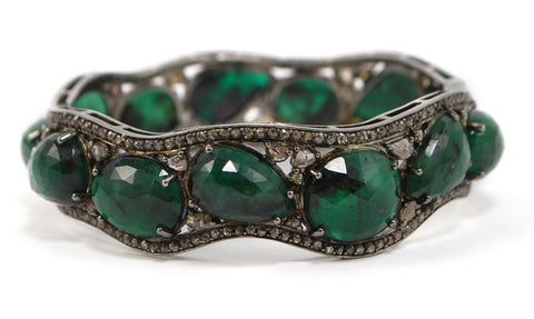 D3110 emeralds and diamonds bracelet