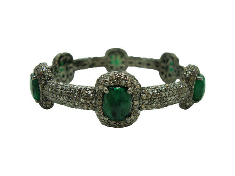 D3150 emeralds and diamonds bracelet