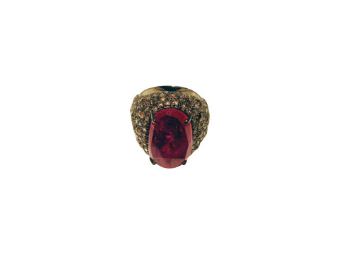 D3162 Ruby & Diamond Ring