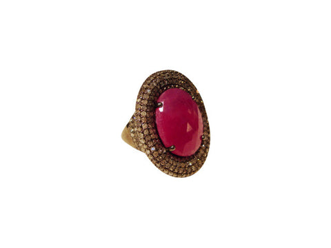 D3168 DIAMOND & RUBY RING