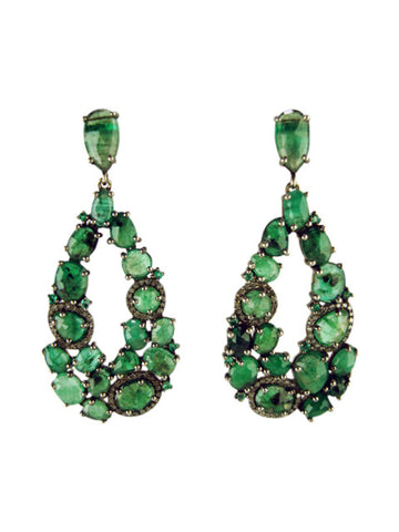 d3177 earring emeralds