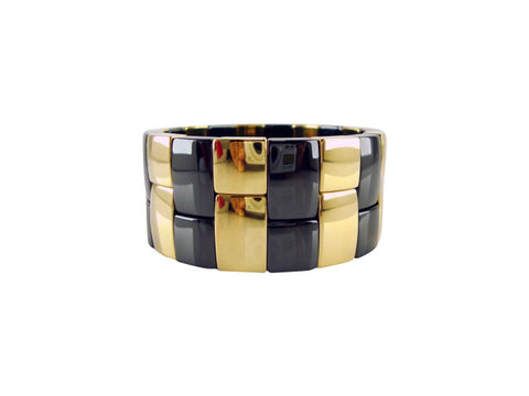 D8101-2 Bracelet ceramic and gold large