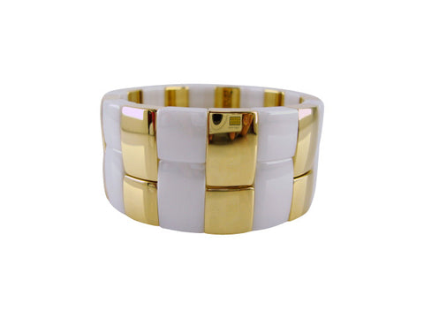 D8101 Bracelet ceramic and gold large