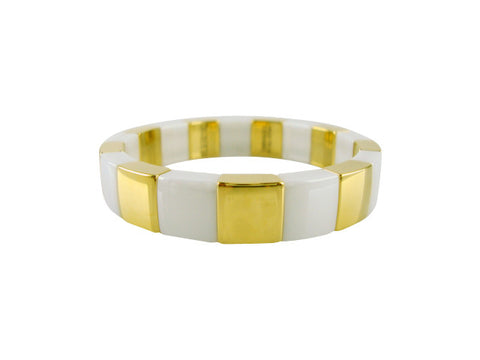 D8103-2 Bracelet ceramic and gold sections small