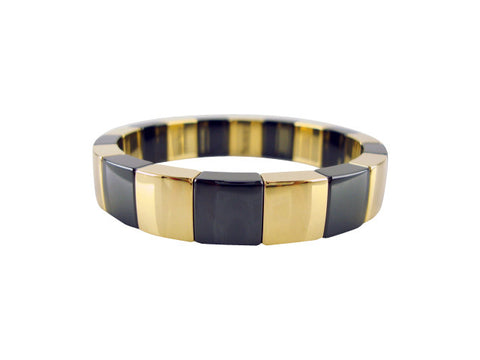 D8103 Bracelet ceramic and gold sections small