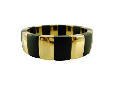 D8104-2 Bracelet ceramic and gold sections medium