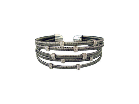 D2114 bracelet oxidized and cz
