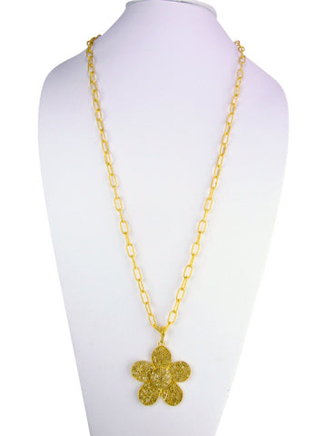 d1052 diamond pave flwoer necklace