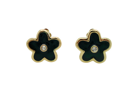 E443 flower clip earring