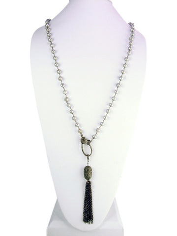 d1039 necklace long drop with diamonds