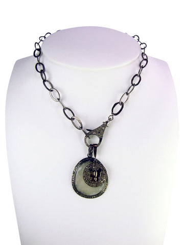 d1039-2 necklace with diamonds