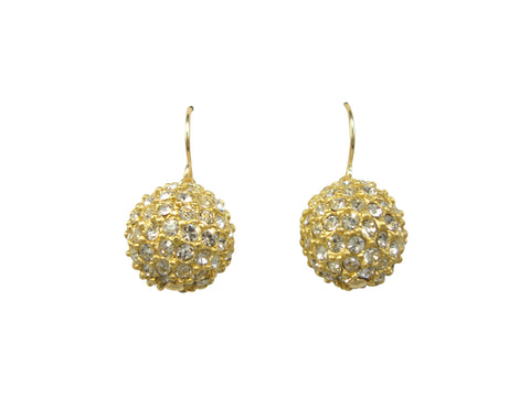 E2980 pave' ball earring