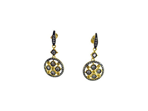 E6366 earring gold and black