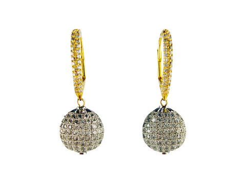 E6447 pave' drop earring