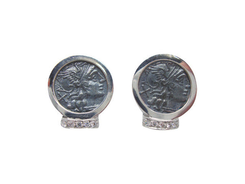 E6465 Earring coin white