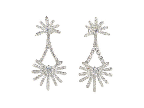 E6714 EARRING PAVE' DROP