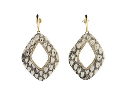 e6723 earring python leather