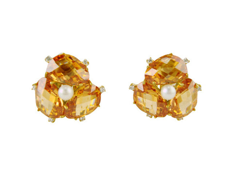 E6886 Earring champagne clip