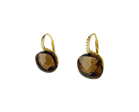 e6908-3 Earring faceted crystal