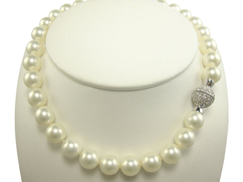 N118 faux pearl 12mm  necklace