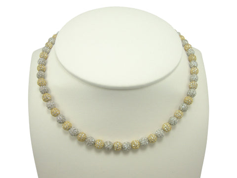 N1760 small pave' balls necklace