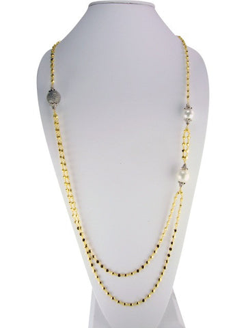 n2003 necklace multi strand with pearls