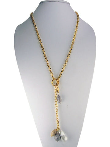 n2009 Necklace lariat with pave' drop