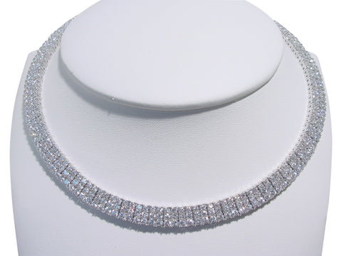 N2549 cubic zirconia necklace