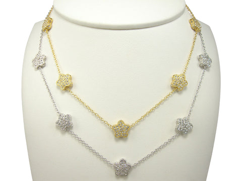 N2570 flowers necklace