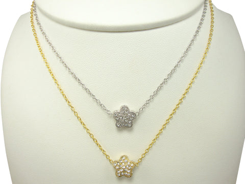 N2589 single flower necklace
