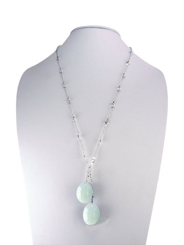 n3414-5 lariat diamonds by yard with aquamarine