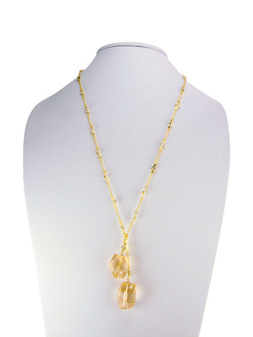 n3414-4 lariat diamonds by yard with citrine