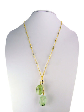 n3414-3 lariat diamonds by yard with green quartz