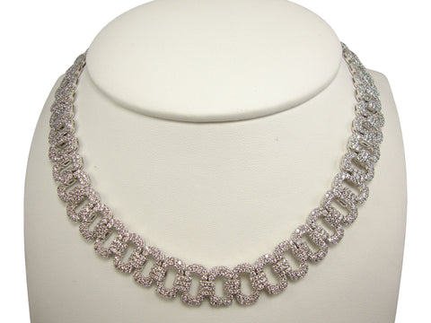 N3823 pave' cubic zirconia necklace