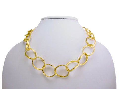 n4251 necklace matt gold links