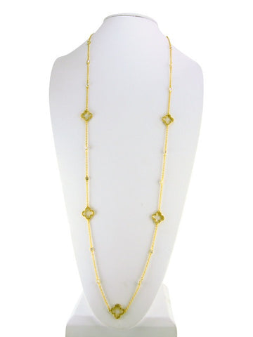 n4254 necklace chain and clovers