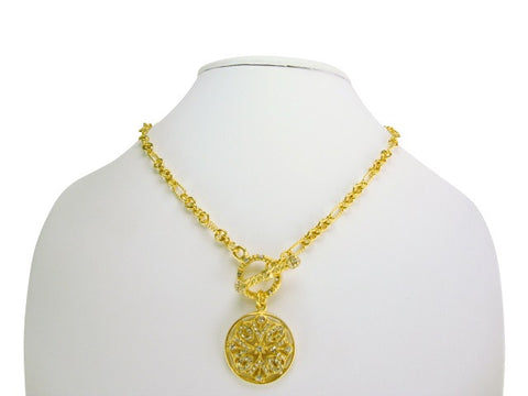 n4254-2 necklace matt gold toggle