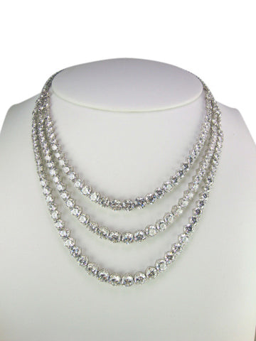 N4264 cubic zirconia necklace