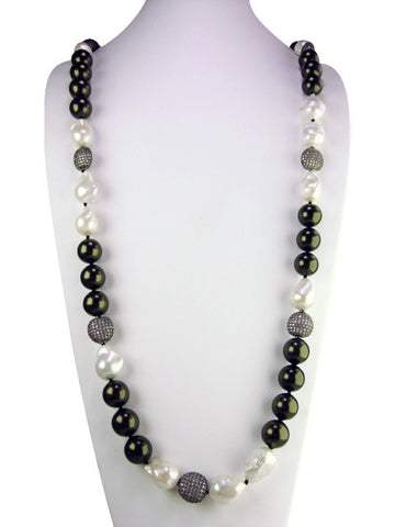 N4316 faux pearl necklace
