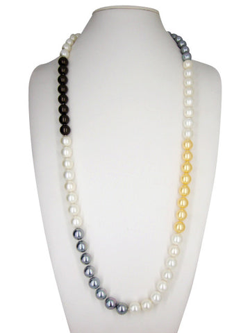 n4371 necklace multi pearl