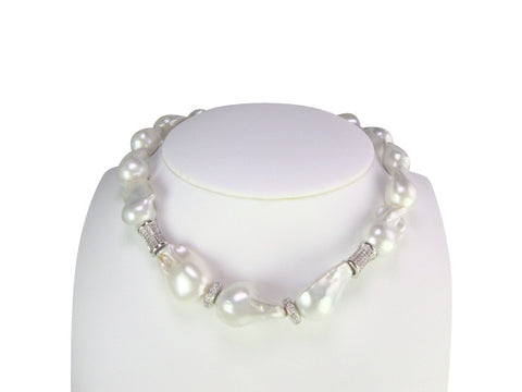 n4627 necklace freshwater baroque pearls